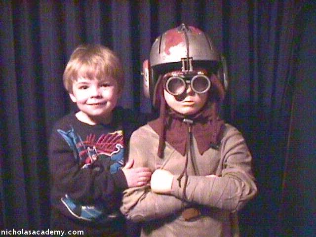 Alex with friend Anakin Skywalker