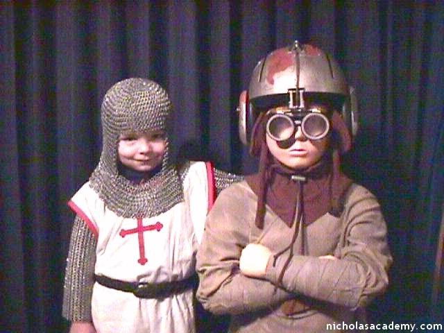 Alex in armor with Anakin Skywalker