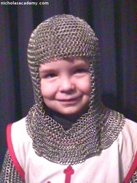 Alex in his maille armor coif