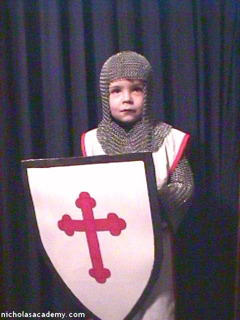 Alex in maille armor with shield